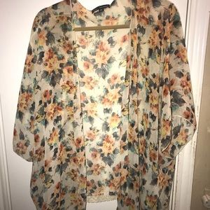 Tops - Floral coverup